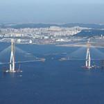 Incheon Bridge under construction