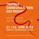 Digitale Sinneskuturen des Radio