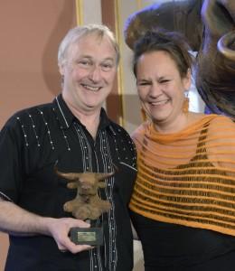 Donal O'Kelly, Anna Birgersson-Dahlberg. Foto: Prix Europa.