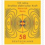 Sondermarke 125 Jahre Strahlen elektrischer Kraft Heinrich Hertz