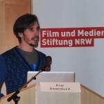 Kim Asendorf beim 19. Hörspielforum NRW. Foto: Hörspielforum NRW.