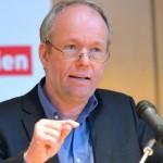 Der Soziologe Dirk Baecker beim 19. Hörspielforum NRw 2013. Foto: Hörspielforum NRW