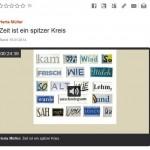 Herta Müller: Zeit ist ein spitzer Kreis. BR-Mediaplayer