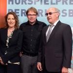 """Petra Müller, Robert Schoen (""""Heidi Heimat""""), Hans-Dieter Hain Bild: Roberto Pfeil / Film- und Medienstiftung NRW"""