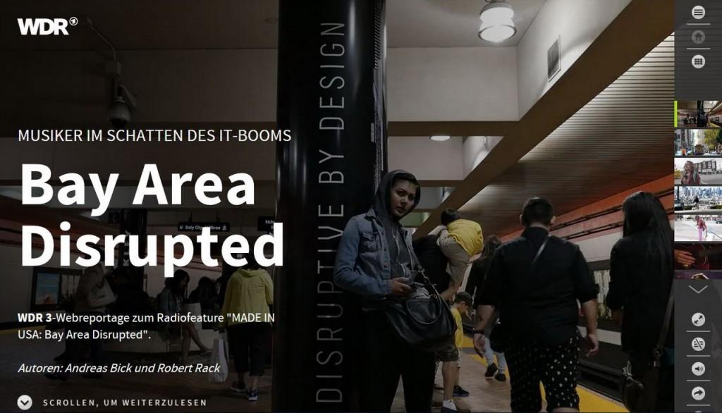 Andreas Bick, Robert Rack: Bay Area Disrupted. Screenshot