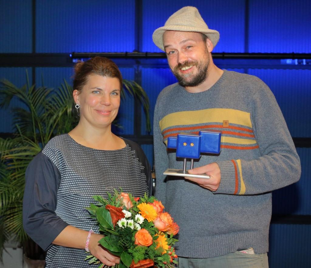 Helgard Haug, Daniel Wetzel. Deutscher Hörspielpreis der ARD(c) SWR Peter A. Schmidt