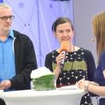 Stefan Scheib und Katharina Bihler (Liquid Penguin Ensemble) im Gespräch mit Ute Soldierer © Heike Herbertz / Film- und Medienstiftung NRW