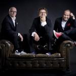 Die drei ??? Oliver Rohrbeck, Andreas Fröhlich, Jens Wawrczeck. Bild: © Christian Hartmann.