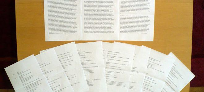 Aus 3 mach 9. Wie Regisseur Walter Adler den Text von Lothar Trolle zur Hörspielproduktion eingerichtet hat: Bild: Jochen Meißner.