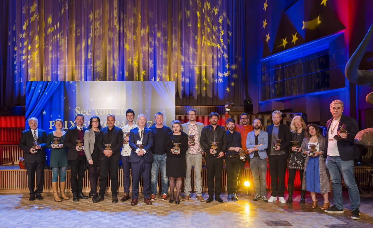 The winners of 2016 Prix Europa Awards. Photo: David von Becker