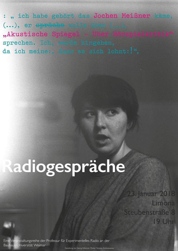 Bild: Jan Georg Glöckner: Radiogespräch Jochen Meißner, Bauhaus-Universität Weimar 2018.