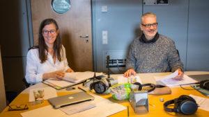 Katharina Bihler, Stefan Scheib (Liquid Penguin Ensemble). Bild: SR/Oliver Dietze.