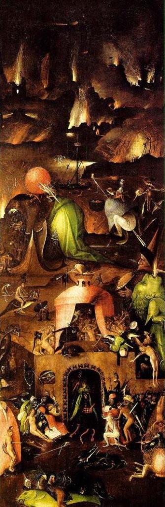 Hieronymus Bosch: Das jüngste Gericht (rechtes Panel)