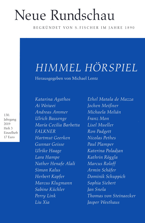 Neue Rundschau 2019 H. 3 Himmel Hörspiel