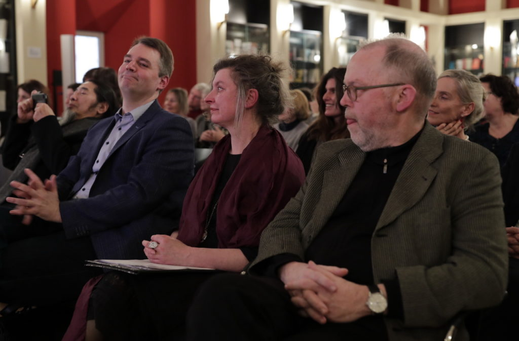 Die Jury: Torsten Mergen, Ruth Rousselange, Georg Ruby.
